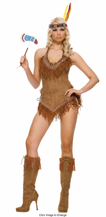 Indian Girl Halloween Costumes with Fringe