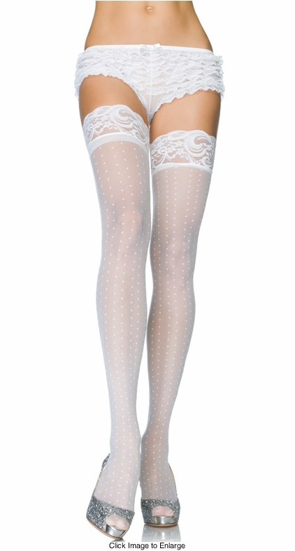 Stay Up Lace Top Dot Stockings
