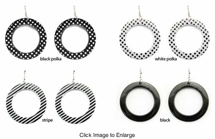 "2.15"" Circle Earrings"