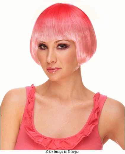 Mini Bob Wig in Ombre Pink Flamingo