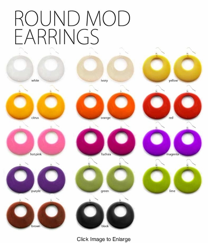 "2.5"" Circle Mod Earrings"