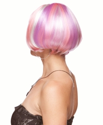 Mini Bob Wig in Pink, Violet and White