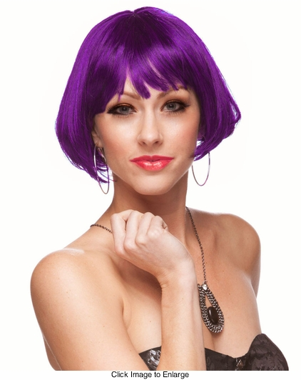 Mini Bob Wig in Purple