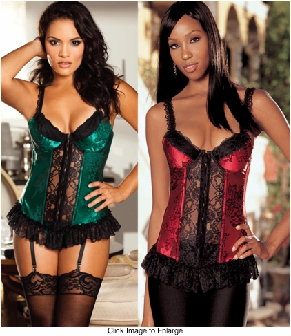 Luxe Brocade Bustier with G-string