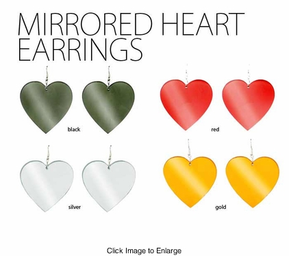 Mirrored Heart Earrings