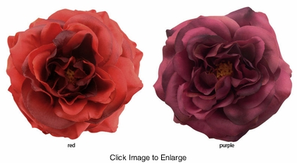 Country Rose Double Flower Jaw Hair Clip