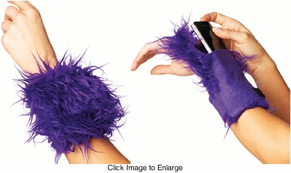 Furry Wrist Wallet