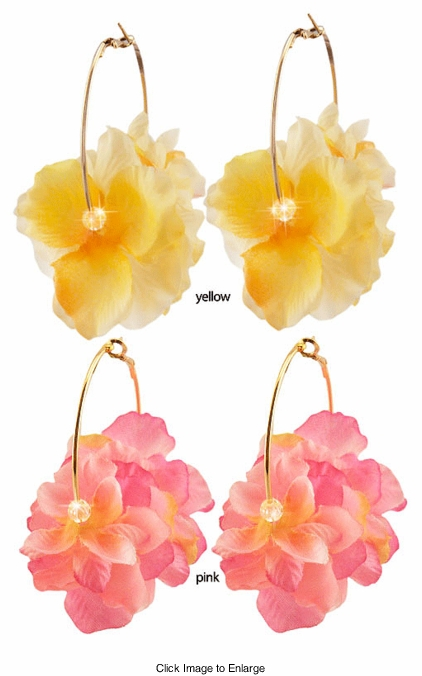 "2"" Flower Hoop Earrings"