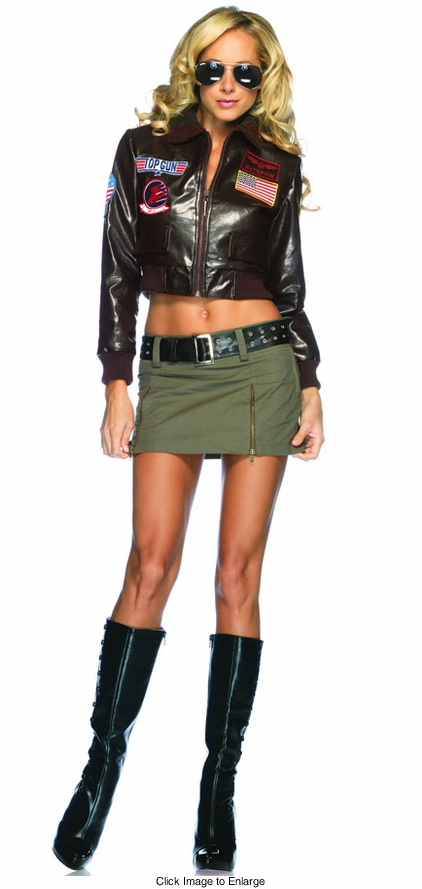 "Top Gun ""Charlie"" Bomber Jacket and Skirt Costume"
