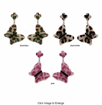 "2.5"" Leopard Butterly Earrings"