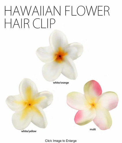 "2"" Hawaiian Flower Hair Clip"