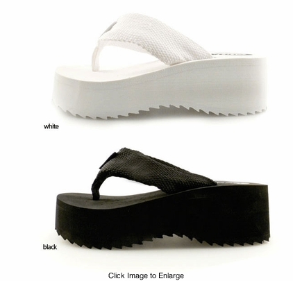 "2"" Platform Flip Flops (available in White, Black and Brown)"