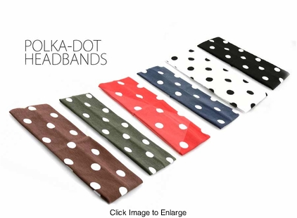 "2.75"" Polka Dot Knit Headband"