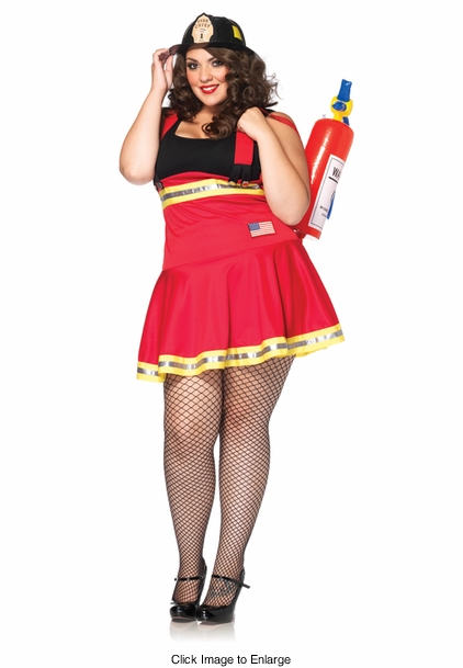 Plus Size Three Alarm Hottie Costume