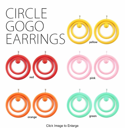 Circle Gogo Earrings