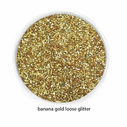 Banana Gold Color of Luxe Glitter Powder for Eyeliner and Eye Makeup