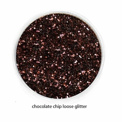 Chocolate Color of Luxe Glitter Powder for Eyeliner and Eye Makeup