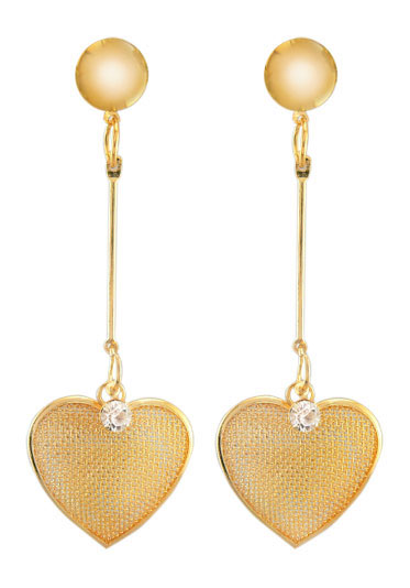 "3"" Heart Dangle Earrings"