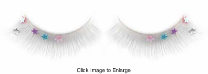 False Eyelashes -White Fake Lashes with Stars on Sale Now - Buy 1 Get 1 Free
