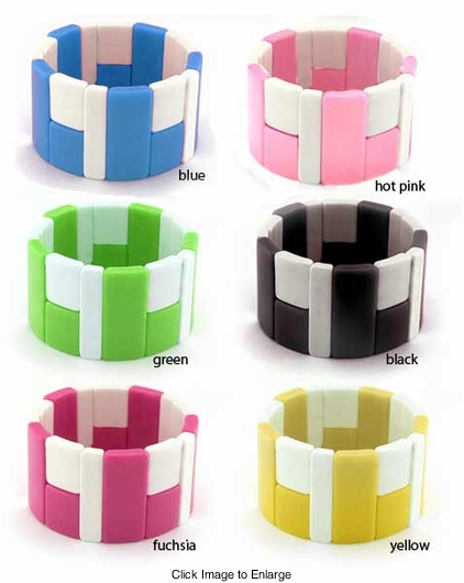 1.15 Geometric Pop Art Bracelet