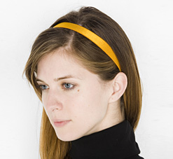 "0.75"" Shiny Satin Finish Elastic Headband"