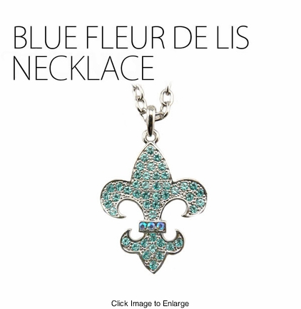 Blue Blood Fleur de Lis Necklace