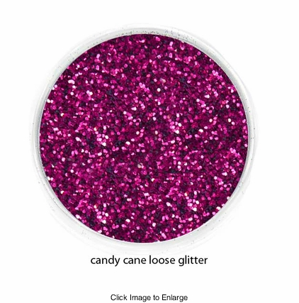Candy Cane Red Color of Luxe Glitter Powder for Eyeliner and Eye Makeup