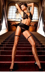 Fence Net Thigh High Stockings