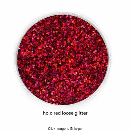 Holo Red Color of Luxe Glitter Powder for Eyeliner and Eye Makeup