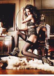 French Net Thigh High Stockings