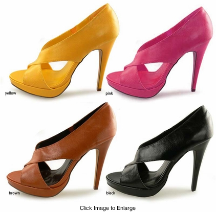 "SALE ** 4.5"" Criss Cross Front Shoes ""Elait"" from Michael Antonio"