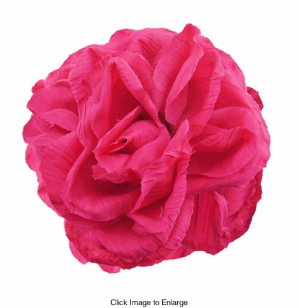 "4"" Crinkle Rose Flower Hair Clip"