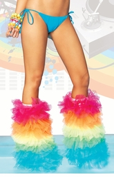 Over-sized Rainbow Chiffon Tutu Legwarmers