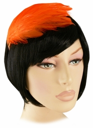 Orange Feather Fascinator Headband