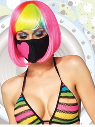Costumes-Rave Neon Heart Face Mask