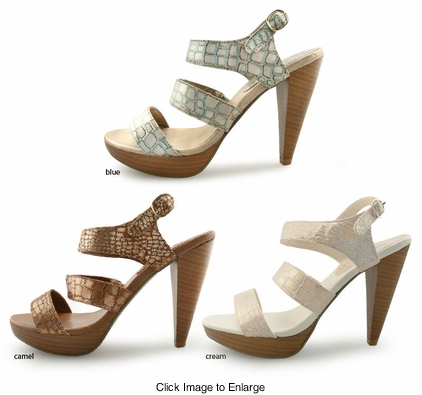 "SALE** 4.15"" Sandals With Shimmery Straps"