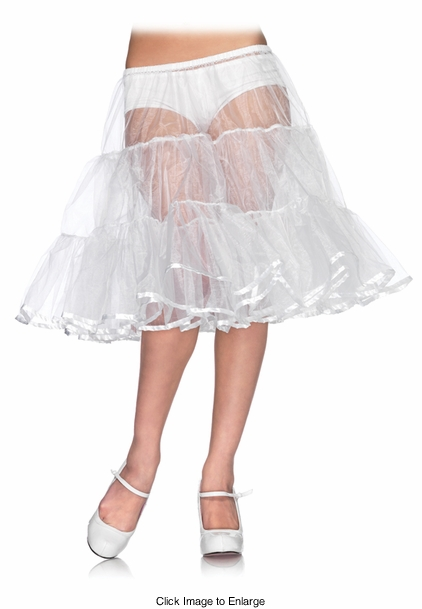 Shimmer Organza Knee Length Petticoat Skirt