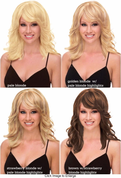 Layered Human Hair Blend Wig with Side Swept Bangs