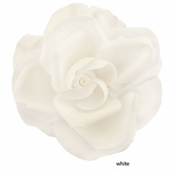 "4"" Stunning Large White Flower Hair Clip"