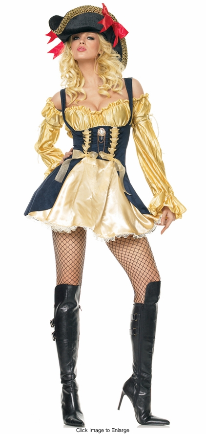 Gold and Black Pirate Costumes