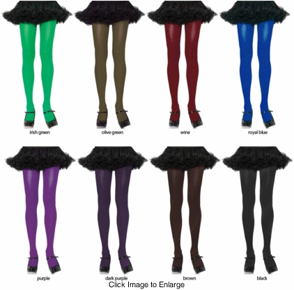 Opaque Tights in 16 Colors