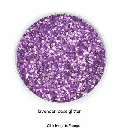 Lavender Color of Luxe Glitter Powder for Eyeliner and Eye Makeup