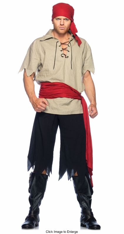 Caribbean Pirate Costume for Men