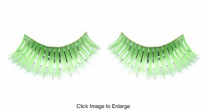 Green and Silver False Eyelashes