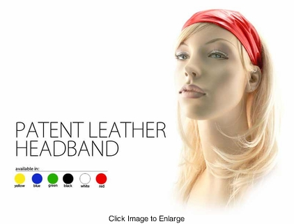 Patent Leatherette Head Band