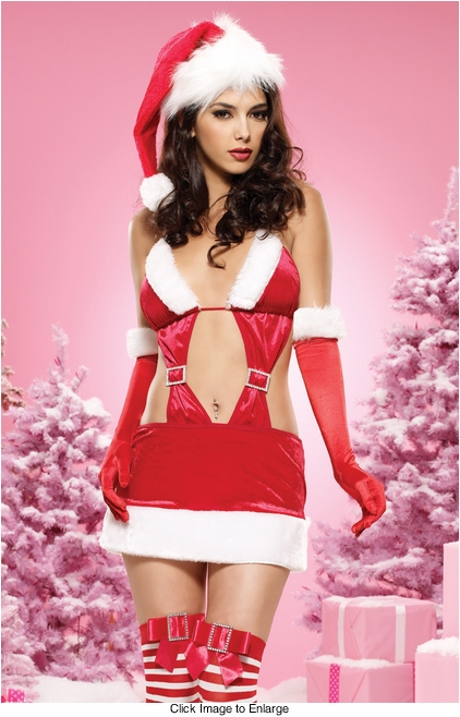 Naughty Christmas Vixen Dress