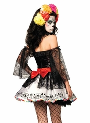 4-Piece Sugar Skull Beauty Costume