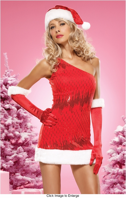 Sequined Christmas Belle Dress