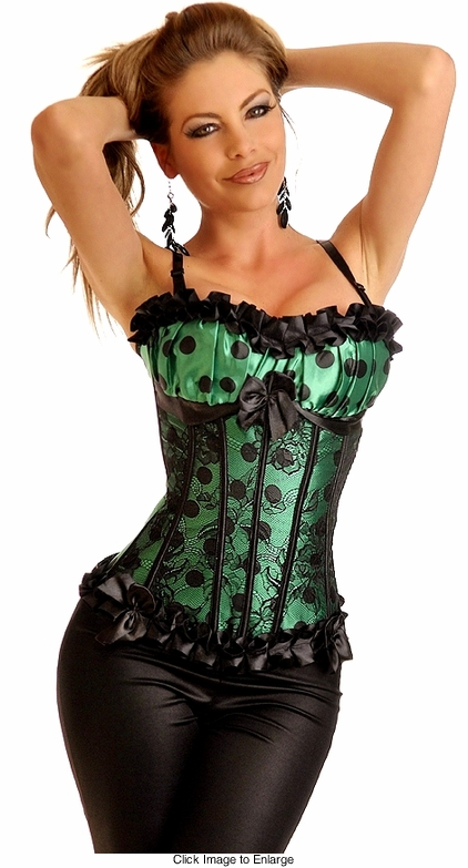 Emerald Green Corset Top