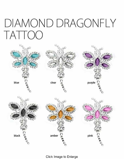 Diamond Dragonfly Tattoo